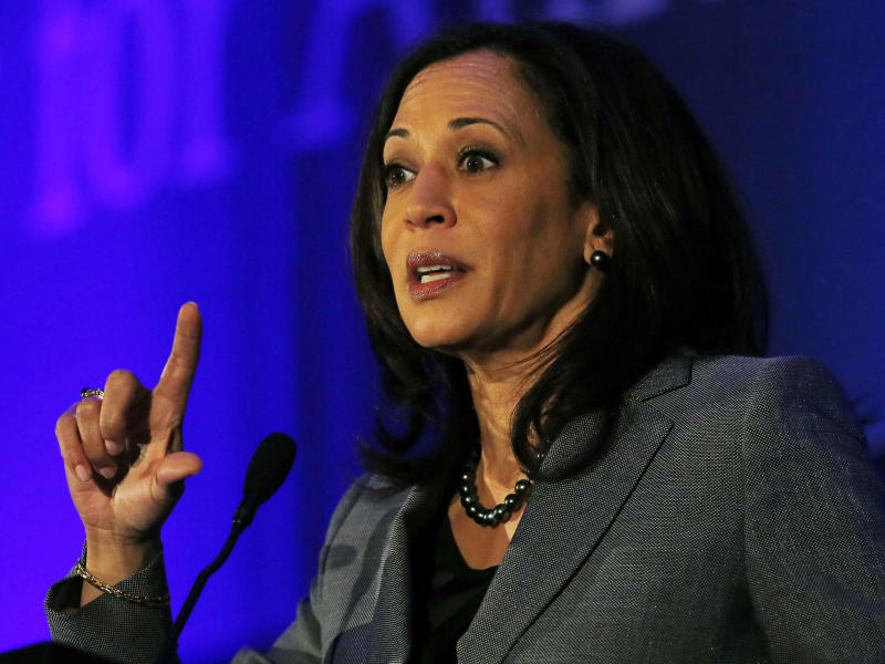 """Sen. Kamala Harris (D-Calif.) called single-payer health care the """"right thing to do"""" on Wednesday. (Gary Cameron / Reuters)"""
