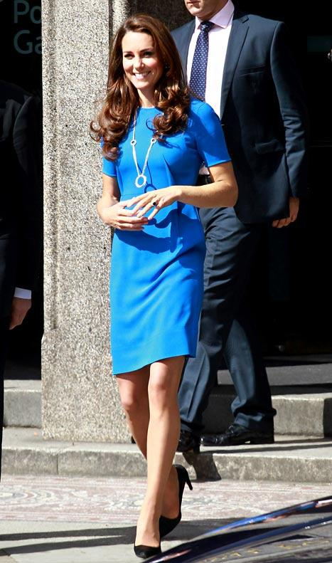 PIC: Kate Middleton Looks Slim, Sexy in Blue at Olympics Event