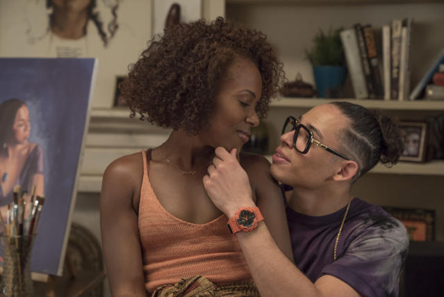 DeWanda Wise and Anthony Ramos, the new Mars Blackmon. (Photo: Netflix)