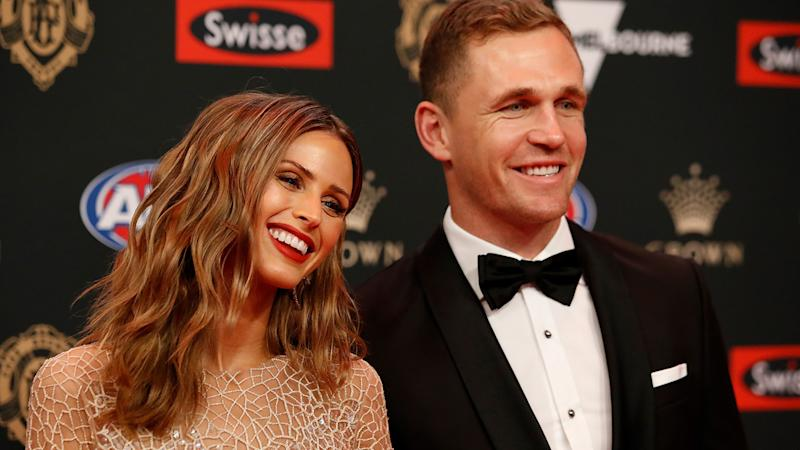 Joel Selwood and Brit Davis, pictured here at the 2018 Brownlow Medal.