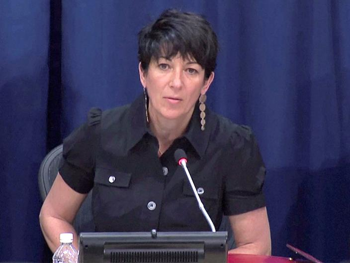 FILE PHOTO: Ghislaine Maxwell, longtime associate of accused sex trafficker Jeffrey Epstein, speaks at a news conference on oceans and sustainable development at the United Nations in New York, U.S. June 25, 2013 in this screengrab taken from United Nations TV file footage. UNTV/Handout via REUTERS