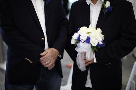 Robert O'Rourke and Rick Nelson Flor prepare to get married in West Hollywood