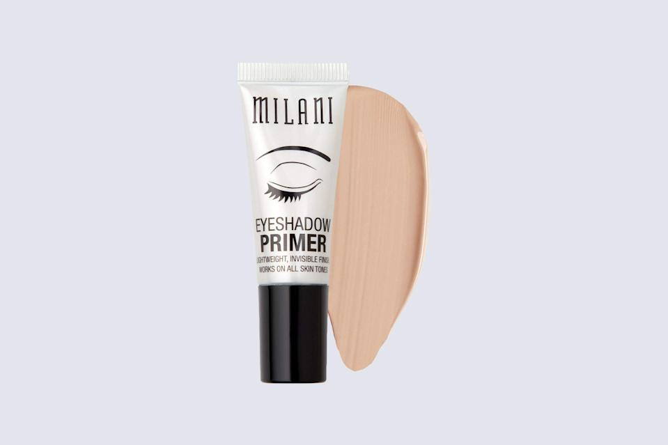 "<p>Not all top-rated eyeshadow primers are expensive. This <a href=""https://www.marthastewart.com/2225759/best-skincare-products-affordable-dupes"" rel=""nofollow noopener"" target=""_blank"" data-ylk=""slk:drugstore pick"" class=""link rapid-noclick-resp"">drugstore pick</a> is forever commended for its invisibly smooth effect.</p> <p><strong><em>Shop Now: </em></strong><em>Milani Eyeshadow Primer, $4.99, </em><a href=""https://www.amazon.com/Milani-Eyeshadow-Primer-Fluid-Ounce/dp/B00DNK6R1U/ref=as_li_ss_tl?ie=UTF8&linkCode=ll1&tag=mslbeubesteyeshadowprimersonthemarketrnorrissep20-20&linkId=2865ddeac85809ca951135e33fb72139"" rel=""nofollow noopener"" target=""_blank"" data-ylk=""slk:amazon.com"" class=""link rapid-noclick-resp""><em>amazon.com</em></a><em>.</em></p>"