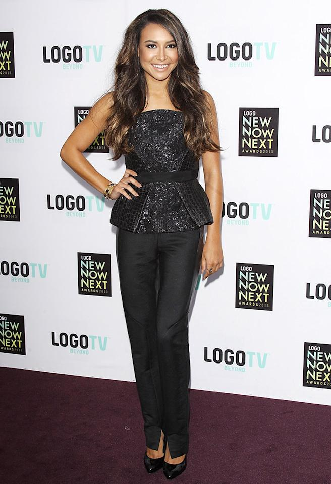 "Following in Selena's footsteps was the equally stunning Naya Rivera  (""Glee""), who also opted for a top that featured a flare. What do you  make of Ms. Rivera's Monique Lhuillier masterpiece, which -- in our  opinion -- she perfectly paired with simple black trousers? Discuss!  (4/13/2013)"