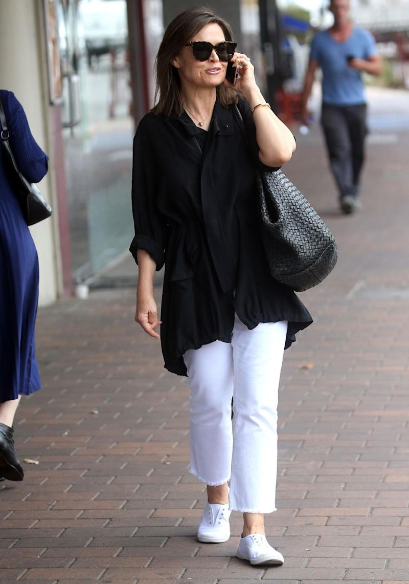 Lisa Wilkinson appeared relaxed as she stepped out in Sydney on Wednesday, after having announced she was leaving the Today show earlier this week. Source: Diimex