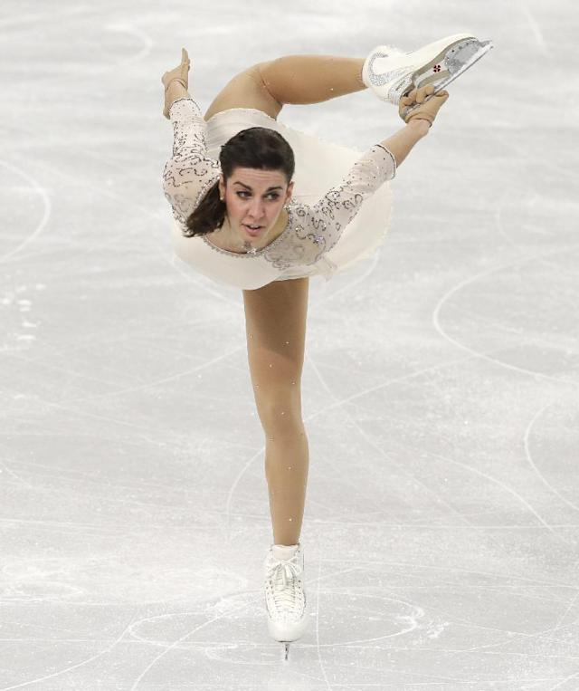 Valentina Marchei of Italy competes in the women's short program figure skating competition at the Iceberg Skating Palace during the 2014 Winter Olympics, Wednesday, Feb. 19, 2014, in Sochi, Russia. (AP Photo/Darron Cummings)