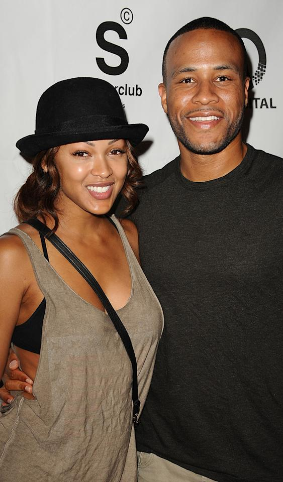 "LOS ANGELES, CA - AUGUST 28:  Actress Meagan Good and husband DeVon Franklin attend the premiere of ""You, Me & The Circus"" at SupperClub Los Angeles on August 28, 2012 in Los Angeles, California.  (Photo by Jason LaVeris/FilmMagic)"