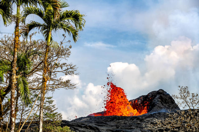 <p>Since the eruption, CJ has seen friends evacuated, and even his mother lost her home in Kapho, yet he still sees the beauty in the creation of new land. (Photo: CJ Kale/Caters News) </p>