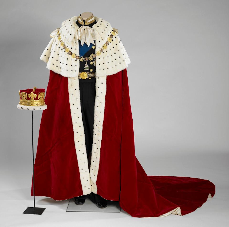 The robes worn by the late Duke of Edinburgh to the Queen's Coronation in 1953 - RCT