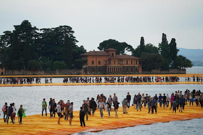 As you can see from this photo, Christo and Jeanne Claude's works a lot more popular than you might have thought.