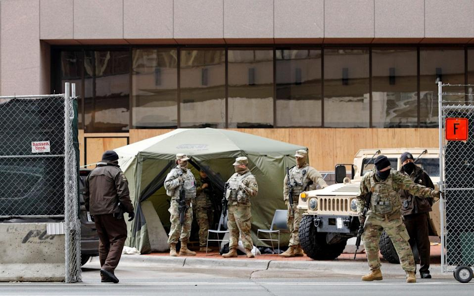 The Hennepin County courthouse looks more like a military base than a the heart of local government - Nicholas Pfosi/Reuters