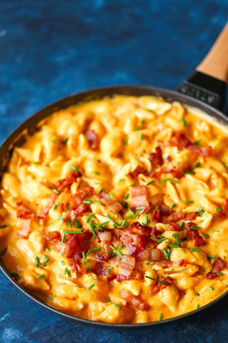 """<p>Make the main dish a side dish in seconds by whipping up this mac and cheese recipe. It'll have guests begging for more, trust us.</p> <p><b>Get the recipe</b>: <a href=""""http://damndelicious.net/2018/10/17/butternut-squash-mac-and-cheese/"""" class=""""link rapid-noclick-resp"""" rel=""""nofollow noopener"""" target=""""_blank"""" data-ylk=""""slk:butternut squash mac and cheese"""">butternut squash mac and cheese</a></p>"""