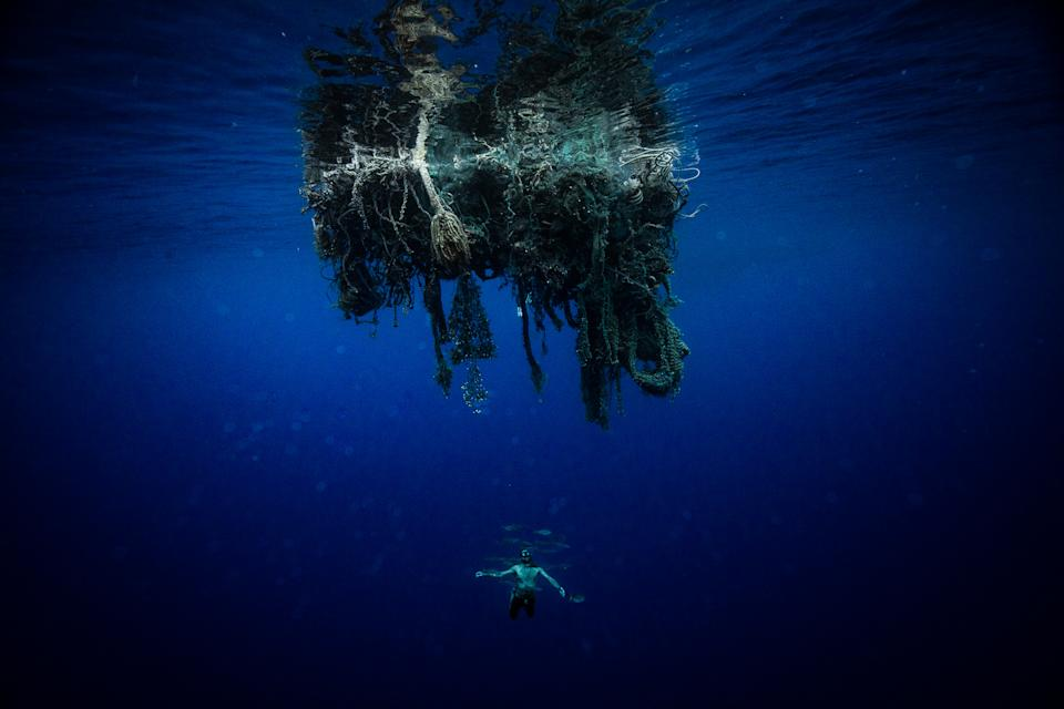 A net in the Great Pacific Ocean Garbage Patch. Source: @sea.marshall