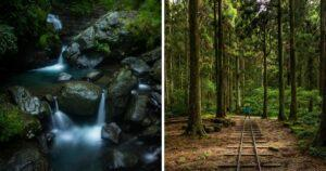 The photo (right) are taken at Dongyanshan National Forest Recreation Area in Sanxia, while the other taken at Wulai (right). (Courtesy of Ryan Hevern)
