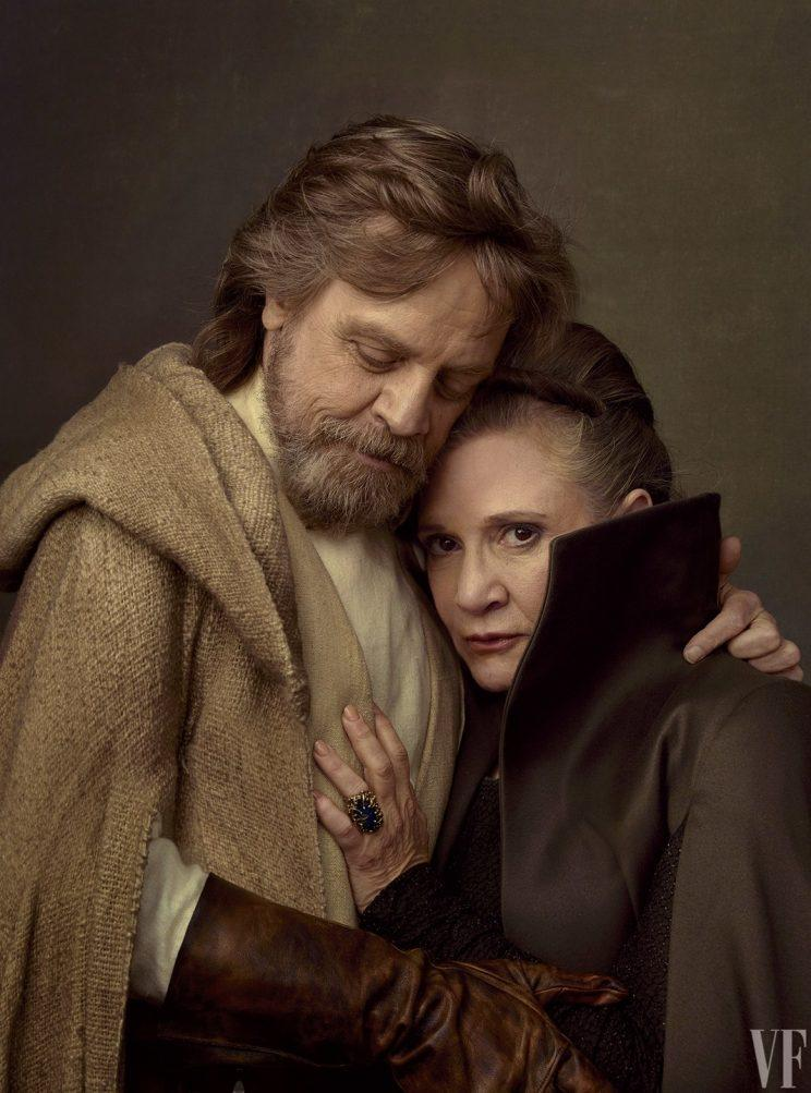 Carrie Fisher and Mark Hamill in a photoshoot for 'Star Wars: The Last Jedi'