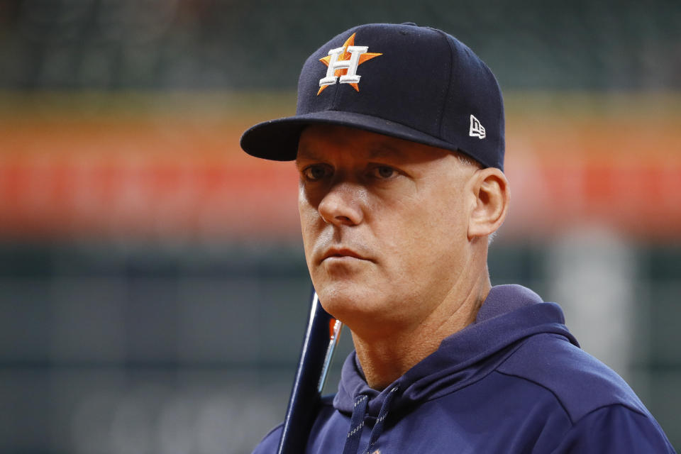 A.J. Hinch in a hat.