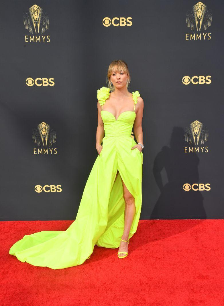 Kaley Cuoco at the 73rd Primetime Emmy Awards held at L.A. Live on September 19, 2021. - Credit: Michael Buckner for Variety
