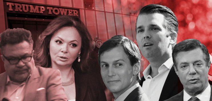 Rinat Akhmetshin, Natalia Veselnitskaya, Jared Kushner Donald Trump Jr. and Paul Manafort
