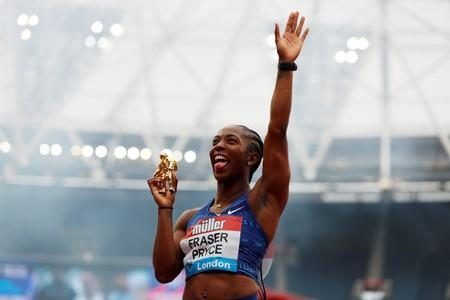Unstoppable Fraser-Pryce blazes to 100m glory in London