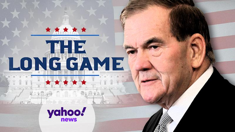 Former Gov. Tom Ridge. (Photo illustration: Yahoo News; photos: Siavosh Hosseini/NurPhoto via Getty Images, AP)