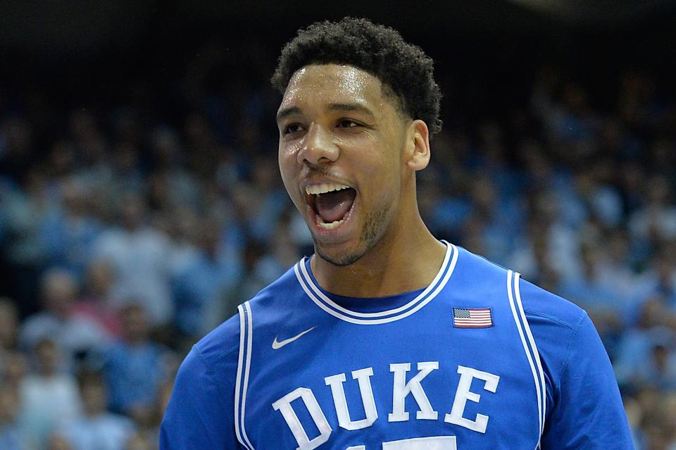 Is Jahlil Okafor headed to the Lakers? (Grant Halverson/Getty Images)
