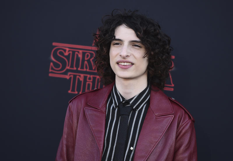 "Finn Wolfhard arrives at the season three premiere of ""Stranger Things"" at Santa Monica High School on Friday, June 28, 2019, in Santa Monica, Calif. (Photo by Jordan Strauss/Invision/AP)"