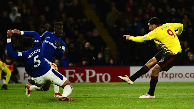 Watford put further breathing room between themselves and the relegation zone as Troy Deeney's goal proved enough to beat Everton.