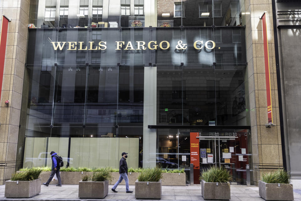 San Francisco California, United States - August 6, 2020: Wells Fargo Headquarters and Museum located at 420 Montgomery Street in San Francisco, CA.