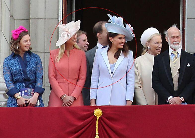 Lady Gabriella Windsor, Thomas Kingston, Lord Frederick Windsor and Sophie Winkleman pictured at the 2019 Trooping the Colour alongside Prince and Princess Michael of Kent
