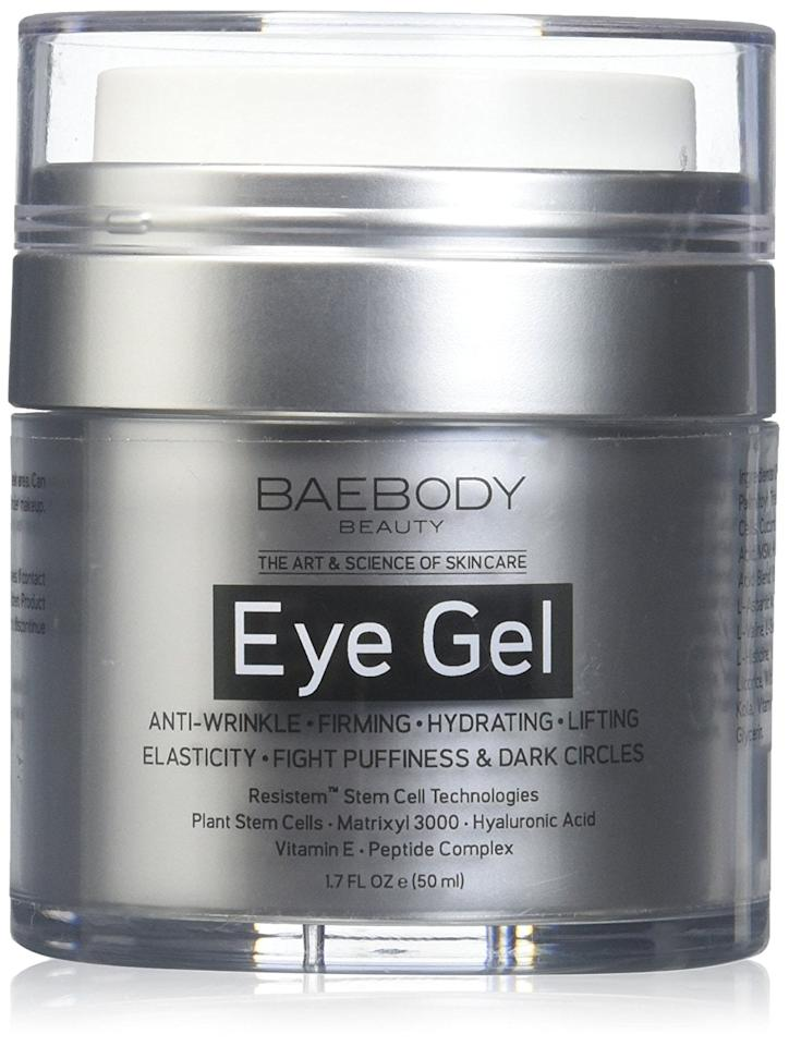 "<p>For years I have dealt with annoying dark circles and puffiness under my eyes. That's why I was excited to hear about <a href=""https://www.popsugar.com/buy/Baebody-Eye-Gel-113307?p_name=Baebody%20Eye%20Gel&retailer=amazon.com&pid=113307&price=25&evar1=bella%3Aus&evar9=45904070&evar98=https%3A%2F%2Fwww.popsugar.com%2Fbeauty%2Fphoto-gallery%2F45904070%2Fimage%2F45904075%2FBaebody-Eye-Gel&list1=shopping%2Camazon%2Cbeauty%20products%2Cbeauty%20shopping%2Cskin%20care&prop13=mobile&pdata=1"" rel=""nofollow"" data-shoppable-link=""1"" target=""_blank"" class=""ga-track"" data-ga-category=""Related"" data-ga-label=""https://www.amazon.com/Baebody-Dark-Circles-Puffiness-Wrinkles/dp/B01K2UMMI0/ref=zg_bs_beauty_11?_encoding=UTF8&amp;psc=1&amp;refRID=8Z2JMR95K9Y5HQJ6NE6C#CustomerImages"" data-ga-action=""In-Line Links"">Baebody Eye Gel</a> ($25). It's currently exploding in sales on Amazon by 9,000 percent, and for good reason. It claims to drastically reduce the appearance of dark circles, puffiness, sagging, or wrinkles. Customers are absolutely loving it and many are <a href=""https://www.popsugar.com/buy?url=https%3A%2F%2Fwww.amazon.com%2Fgp%2Freview%2FR2UOKJ3MN6BYAF%3Fref_%3Dglimp_1rv_cl&p_name=posting%20photos%20of%20their%20results&retailer=amazon.com&evar1=bella%3Aus&evar9=45904070&evar98=https%3A%2F%2Fwww.popsugar.com%2Fbeauty%2Fphoto-gallery%2F45904070%2Fimage%2F45904075%2FBaebody-Eye-Gel&list1=shopping%2Camazon%2Cbeauty%20products%2Cbeauty%20shopping%2Cskin%20care&prop13=mobile&pdata=1"" rel=""nofollow"" data-shoppable-link=""1"" target=""_blank"" class=""ga-track"" data-ga-category=""Related"" data-ga-label=""https://www.amazon.com/gp/review/R2UOKJ3MN6BYAF?ref_=glimp_1rv_cl"" data-ga-action=""In-Line Links"">posting photos of their results</a>.</p> <p>Almost 10,000 people have reviewed the eye gel, and 67 percent of them give it five stars. The ingredients include hyaluronic acid, which hydrates and plumps skin; Matrixyl 3000, which firms skin; and plant stem cells to strengthen and protect against damage.</p>"