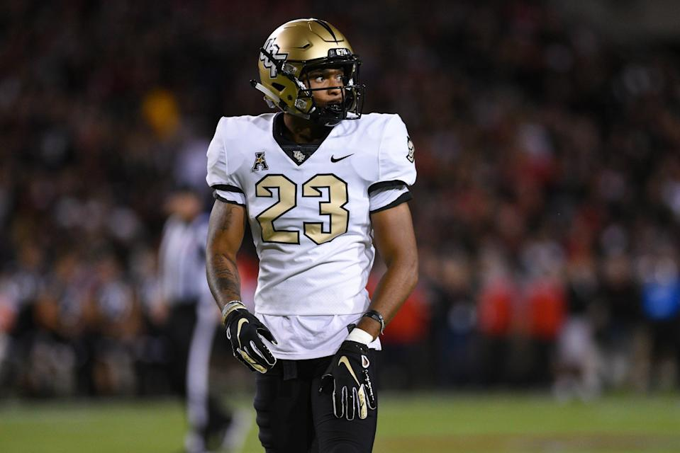 CINCINNATI, OH - OCTOBER 04: UCF (DB) Tay Gowan (23) during a college football game between the University of Central Florida Knights (UCF) and Cincinnati Bearcats on October 4, 2019 at Nippert Stadium in Cincinnati, OH  (Photo by James Black/Icon Sportswire via Getty Images)
