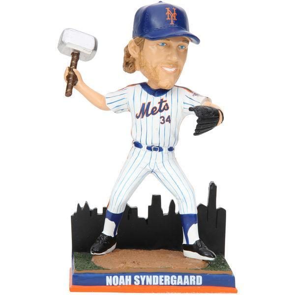 This Noah Syndergaard bobble cuts a handsome figure, especially with that impressive Thor hammer. (MLB.com)