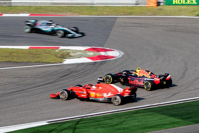 I see a little pirouette of a man: Verstappen sends himself and Vettel spinning out of contention at the Chinese GP