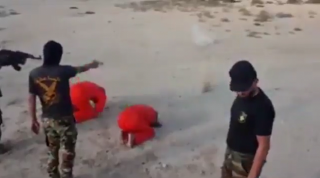 ISIS fighters being shot dead