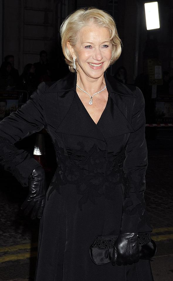 """Helen Mirren, looking fabulous at 64, was a hit on the red carpet for the UK premiere of her film """"The Last Station"""" on Tuesday. Mirren made headlines this week when she commented that though she would never resort to surgery herself, she can understand why people (especially women) would want to undergo cosmetic surgery. Dave M. Benett/<a href=""""http://www.gettyimages.com/"""" target=""""new"""">GettyImages.com</a> - January 26, 2010"""
