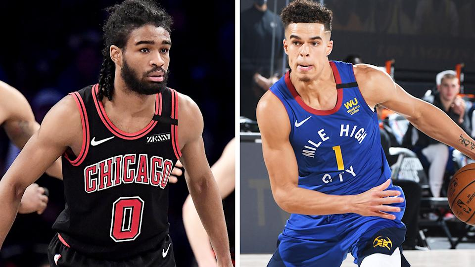 Coby White and Michael Porter Jr could both be poised for huge seasons for the Bulls and Nuggets respectively - as well as your fantasy basketball team. Pictures: Getty Images