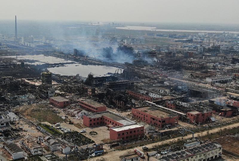 Thursday's explosion in Yancheng city, eastern Jiangsu province razed an industrial park and blew out the windows of surrounding homes