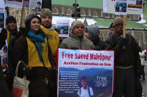 Saeed Malekpour's supporters demand his release in January