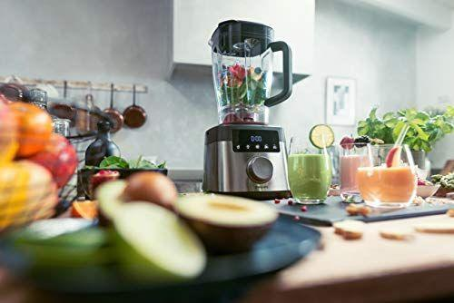 """<p><strong>Philips Kitchen Appliances</strong></p><p>amazon.com</p><p><strong>$448.97</strong></p><p><a href=""""https://www.amazon.com/dp/B07MDXRCV5?tag=syn-yahoo-20&ascsubtag=%5Bartid%7C10067.g.19408606%5Bsrc%7Cyahoo-us"""" rel=""""nofollow noopener"""" target=""""_blank"""" data-ylk=""""slk:Shop Now"""" class=""""link rapid-noclick-resp"""">Shop Now</a></p><p>If she fancies herself a morning smoothie maker or loves to cook homemade soup, make her routine a little easier with a high-tech—but as far as blenders go, very quiet—blender by Philips. With oodles of settings and an easy to clean component, it's a gift she'll use often. </p>"""