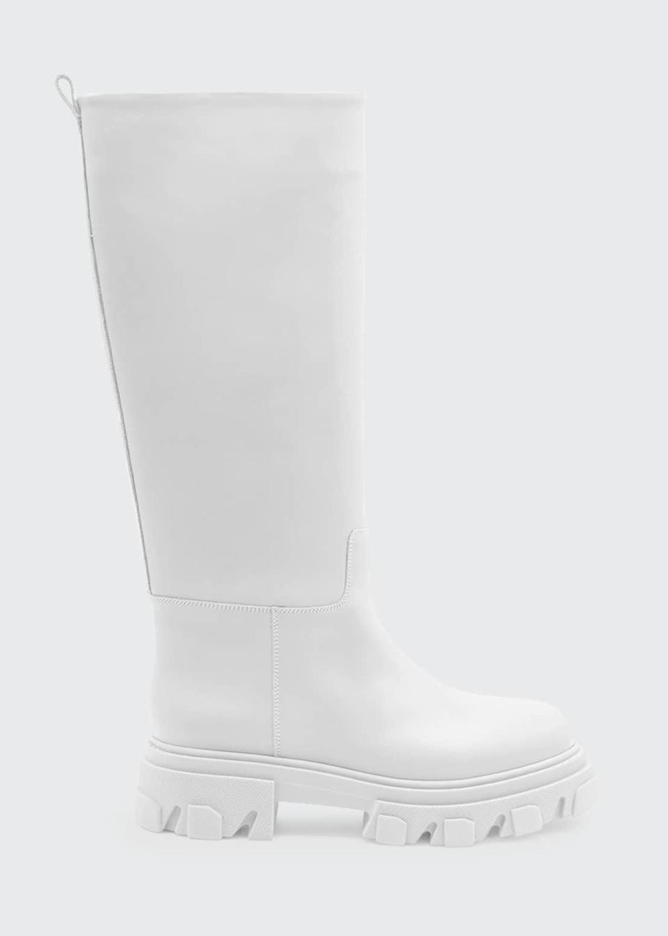<p>These <span>Gia x Pernille Teisbaek Tubular Combat Boots</span> ($680) come in four different colors, but we're loving the white. They manage to be both utilitarian and elevated, which we love.</p>