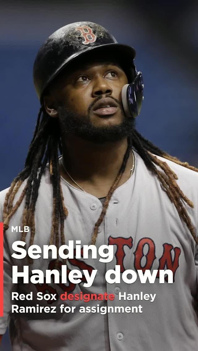 Hanley Ramirez's time with the Boston Red Sox has come to a sudden and unexpected end. The club announced on Friday that the 34-year-old Ramirez will be designated for assignment to make room for Dustin Pedroia.