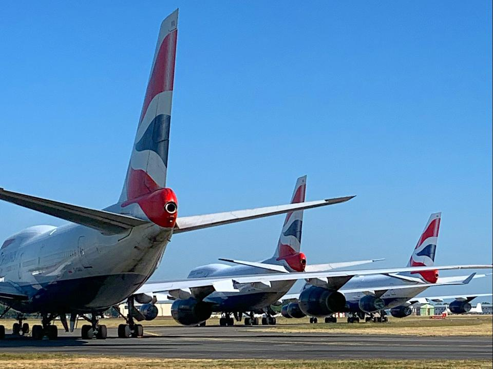 Going nowhere: British Airways 747s, now all retired (Matt Carter)