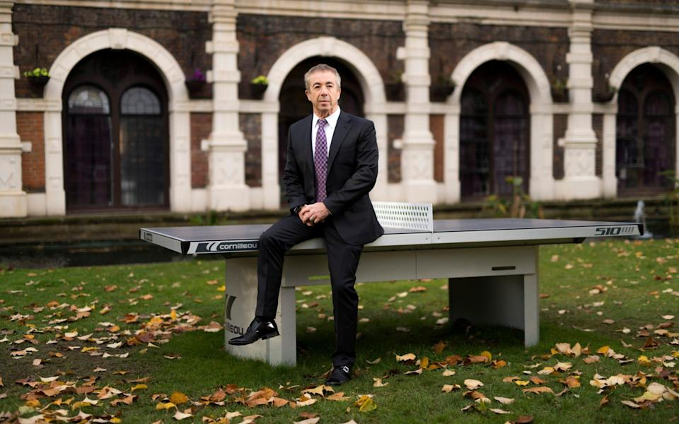 Larry Lipman, Chairman of Safestay, pictured outside the company's 368-bed hostel in Holland Park in London - Geoff Pugh for the Telegraph