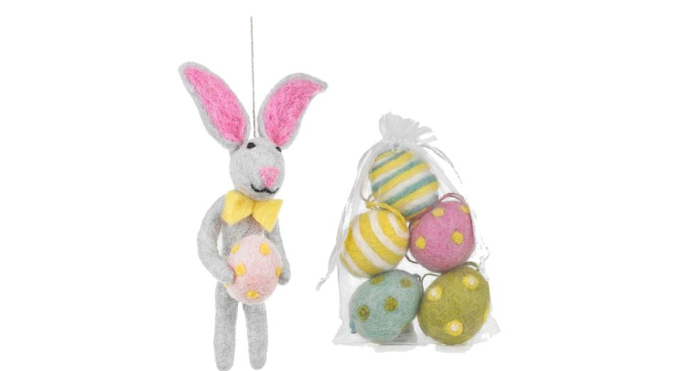 Edgar Easter Bunny and Eggs Hanging Decorations