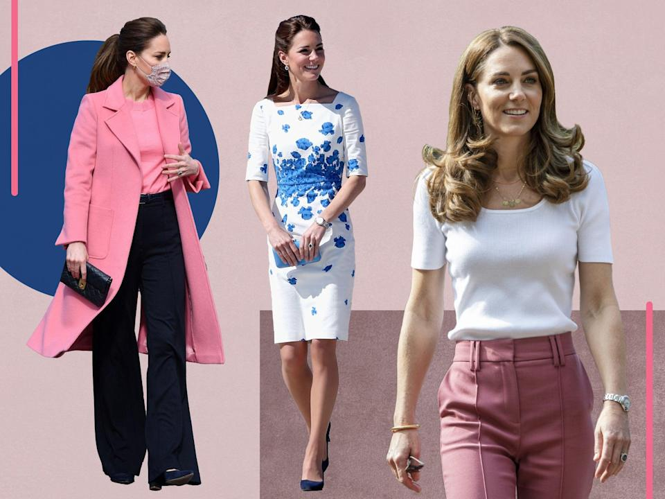<p>The royal has been seen in a range of affordable items over the years </p> (Getty/The Independent)