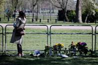 Mourners left flowers near Windsor Castle in honour of Prince Philip