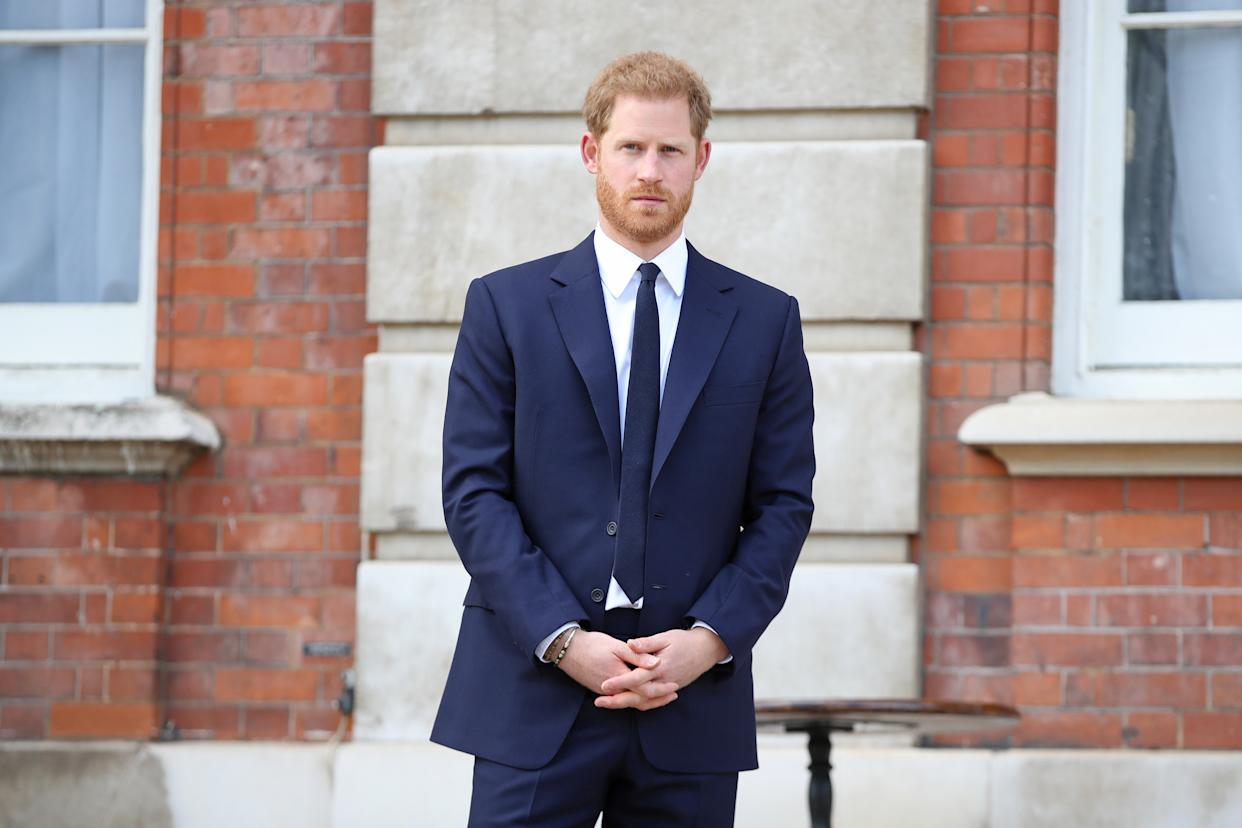The Duke of Sussex at a garden party to celebrate the 70th anniversary of the Commonwealth. [Photo: Getty]
