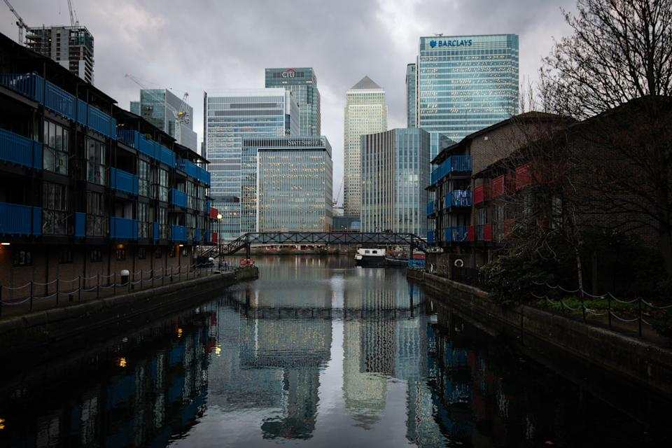 The London headquarters various banks, including Citi, HSBC and Barclays, at Canary Wharf in east London. Many banks are moving assets from London to other EU cities in the face of uncertainty over Brexit. Picture date: Monday December 3, 2018. Photo credit should read: Matt Crossick/ EMPICS Entertainment.
