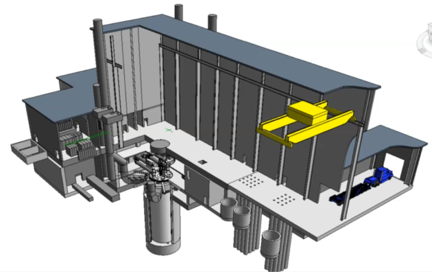 This cutaway graphic shows the design of the Versatile Test Reactor. (DOE Illustration)