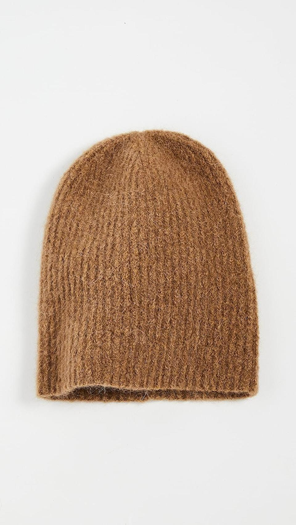 <p>The color of this <span>Janessa Leone Piper Beanie</span> ($117) is so versatile.</p>
